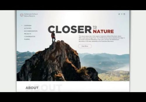 Nature Reserve Website Concept by Cleveroad