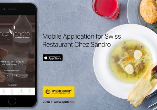 Mobile App for Swiss Restaurant Chezsandro