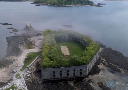 Friends of Fort Gorges - Drone video of Fort Gorges in Casco Bay off Portland Maine