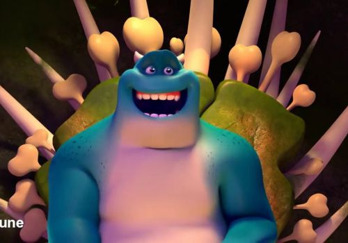 Man and Monster 3D Animation