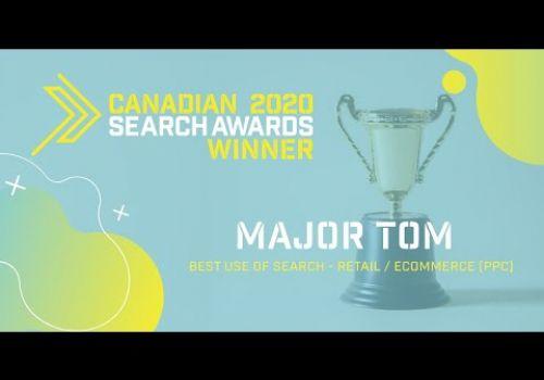 Major Tom Wins Canadian Search Award | Major Tom
