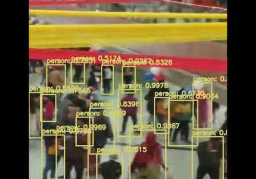 surveillance - Object detection Pentagon Mall Haridwar
