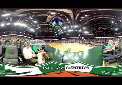 360: A fan experience at a Zalgiris Kaunas basketball game