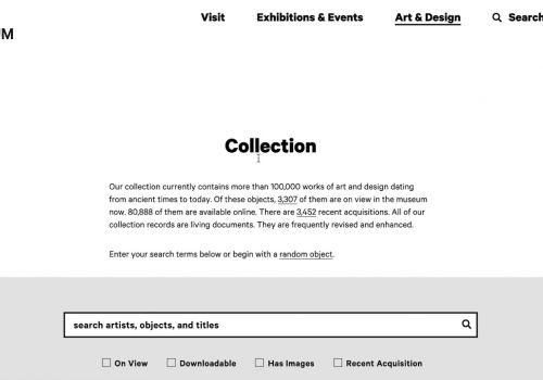 RISD Museum Website Homepage Video