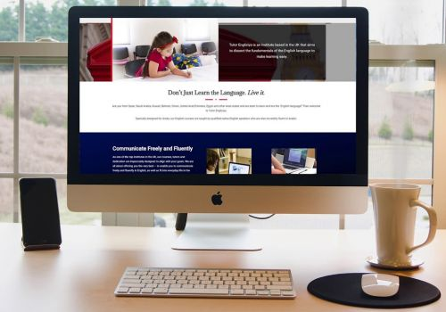 tutor englizya website design