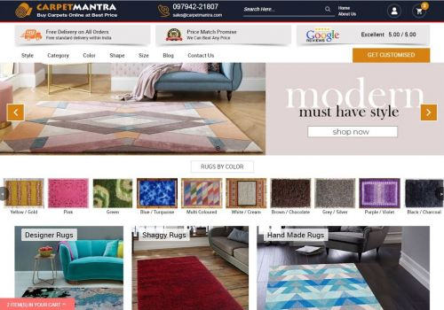 Online eCommerce Marketplace for Rugs | Web Decorum
