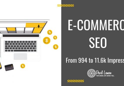 E-Commerce Store SEO | From 994 to 11.6k Impressions | Pearl Lemon SEO Case Study