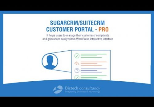 SugarCRM/SuiteCRM Customer Portal Pro by Biztech Store