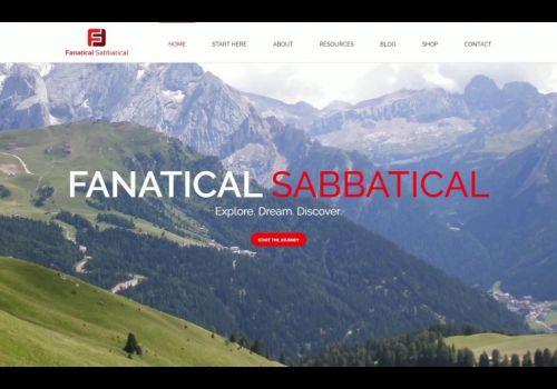 Fanatical Sabbatical - Homepage Design