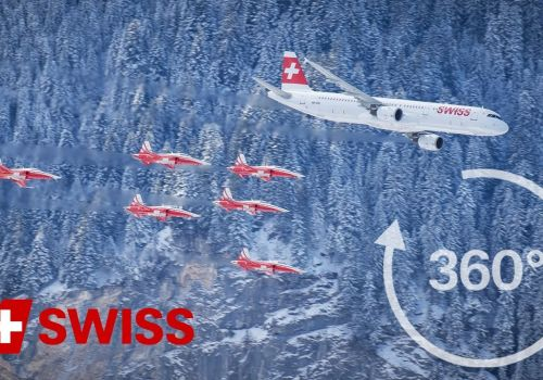 SWISS A321 and Patrouille Suisse in 360° | SWISS