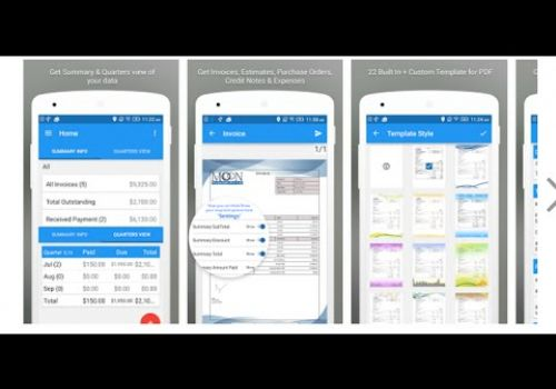 Invoice Android App - Free Invoices Estimates and Expenses - Moon Invoice