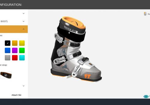 Ski Boots 3D Configuration App by Vakoms