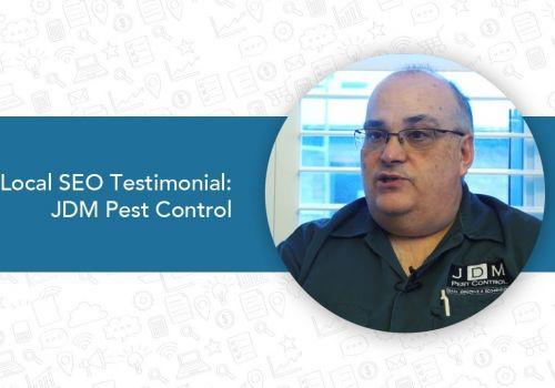 Local SEO Search Testimonial  JDM Pest Control