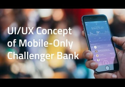 Fintech Case Study: UI/UX Design Concept of Mobile-Only Challenger Bank from UX Design Agency