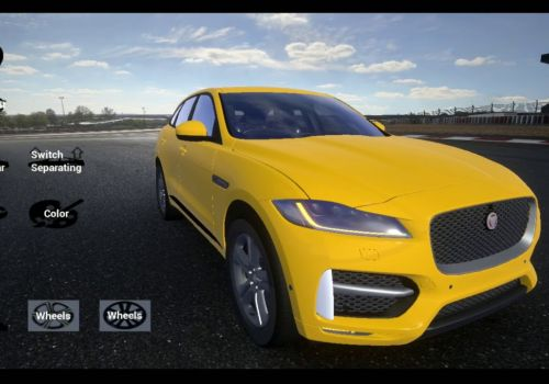 Jaguar F-Pace Augmented Reality application