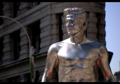 Shirtless David Beckham Statues!