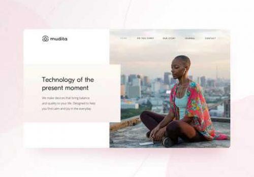 Mudita Homepage Animation