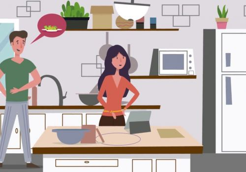 Cooking Healthy Food - animation for Green Chef