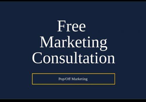 Free Marketing Consultation with PopOff Marketing