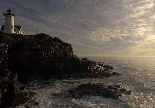 Nubble Lighthouse Summer Solstice Sunrise 2017 - Beautiful Drone Video shot in York, Maine