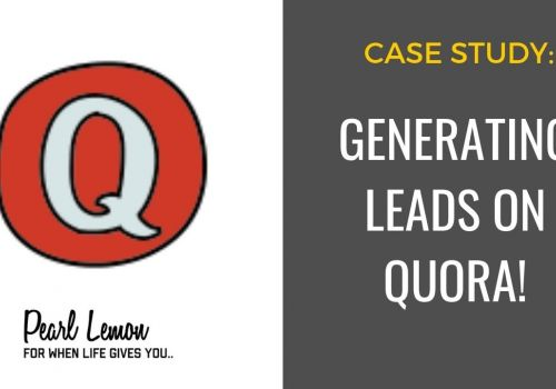 Quora Ranking For SEO | Pearl Lemon SEO Case Study