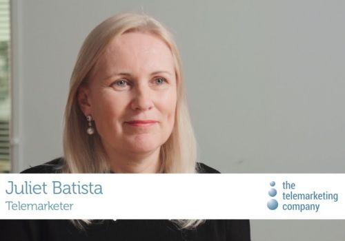 Working at The Telemarketing Company:  Telemarketer, Juliet Batista
