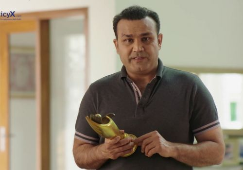 Life Insurance Ad - PolicyX.com - Virender Sehwag