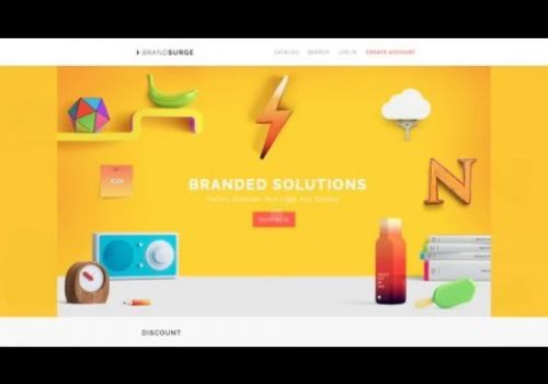 E-commerce main page animation by Cleveroad
