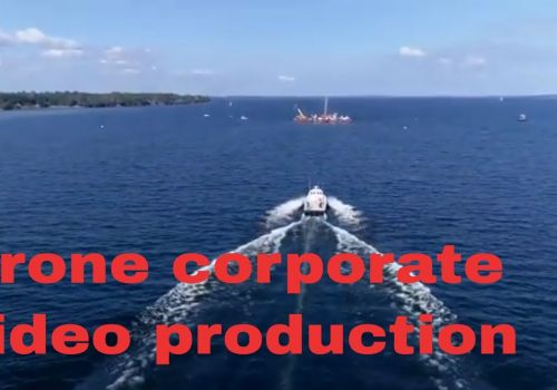 Drone corporate promotional video production in New York, video marketing sizzle reel