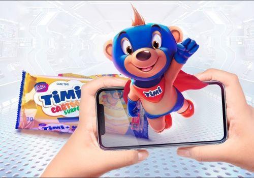 AR Packaging: A New Brand Mascot TIMI in an Elaborate Konti Universe