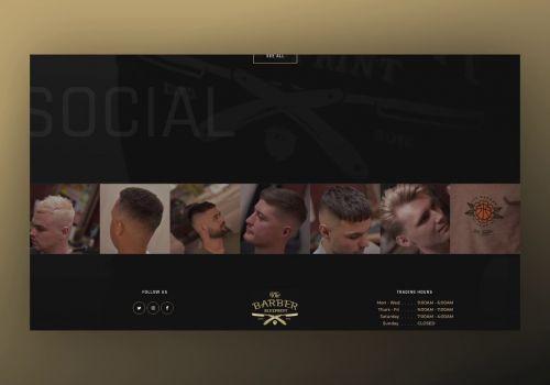 Barber Blueprint Website
