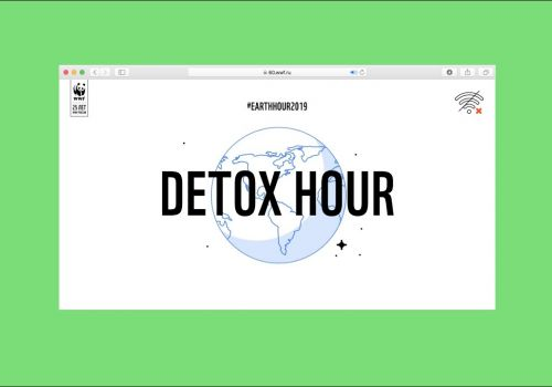 Detox Hour (Earth Hour) for WWF Russia by 24ttl