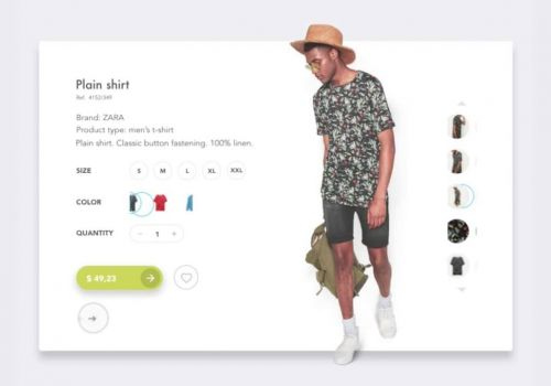 Product Card Concept by Cleveroad