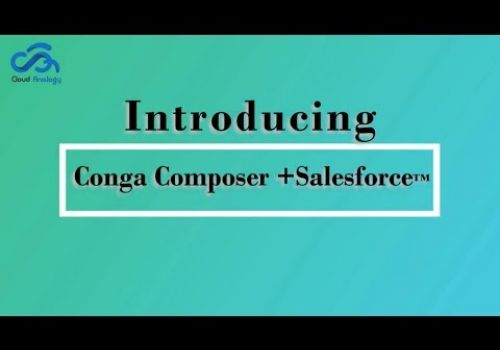 Conga composer with salesforce™