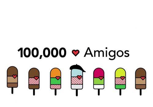 ¡100,000 Amigos en Facebook!