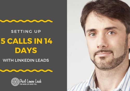 LinkedIn Lead Generation Strategies | 15 Calls in 14 Days | Pearl Lemon Leads