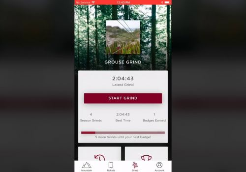 Grouse Mountain App Demo
