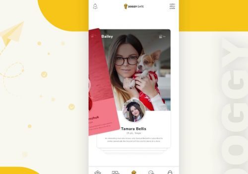 Pet Networking App - Swap Left-Right Feature