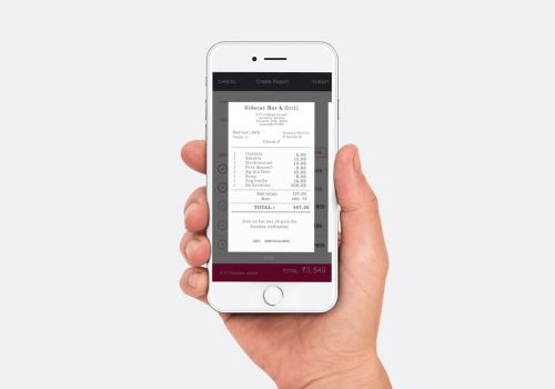 Intelligent Receipt Tracking and Easy Expense Reports Mobile Experience