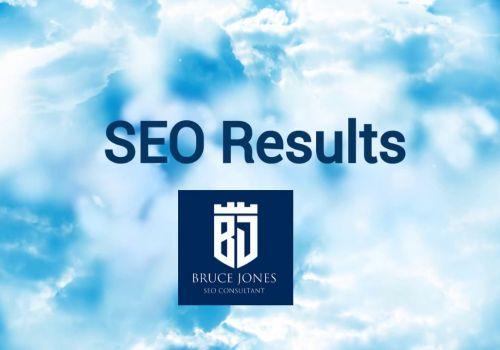 Bruce Jones SEO Consultant Google Analytics Results