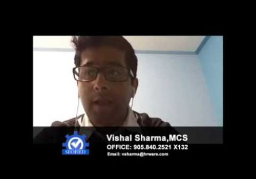 SEOFIED Video Testimonial By - Vishal Sharma Marketing Communications Specialist at Hrware