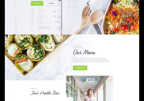 Jans Healthbar Website Design