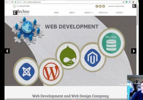 TechnoCrackers- Testimonial from the customer regarding Web design & web development services