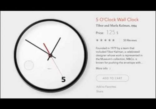 Clock Product Card by cleveroad