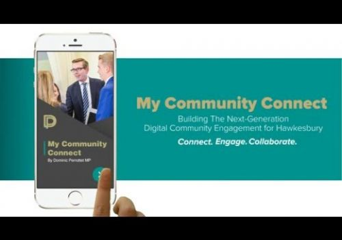Crescent Info Soft's My Community Connect By Dominic Perrottet MP Mobile App Launch - APRIL 2016