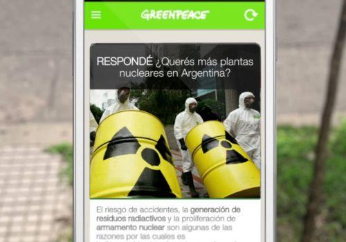 Descargá la app de Greenpeace: Apptivista