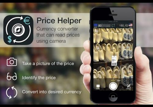 Currency converter Price Helper – identifying prices using camera (iPhone, Android)