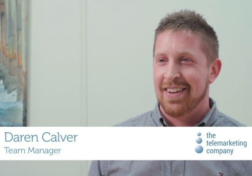Working at The Telemarketing Company:  Team Manager, Daren Calver