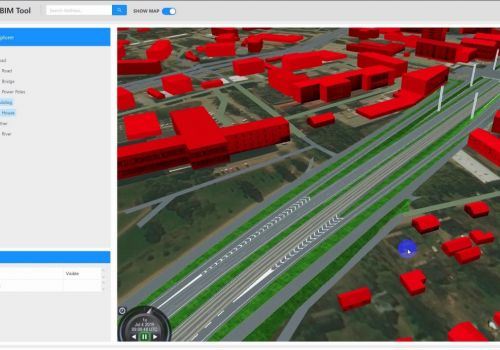 Cesium Demo for GIS with 3D and BIM functions