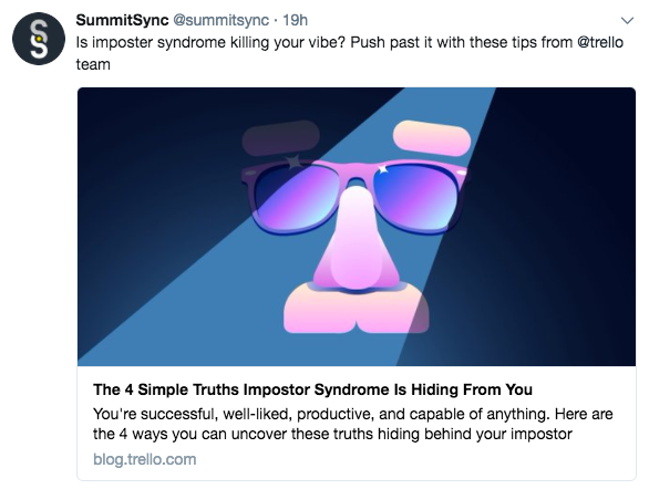 SummitSync curated Tweet